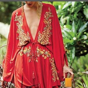 Free people pretty pineapple 🍍 dress med new